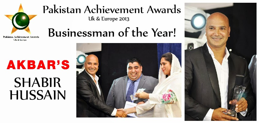 Shabir Hussain awarded Businessman of the year award by PAA 2013