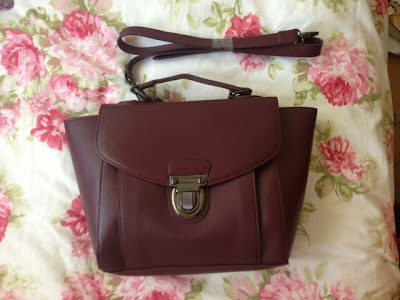 Burgundy satchel
