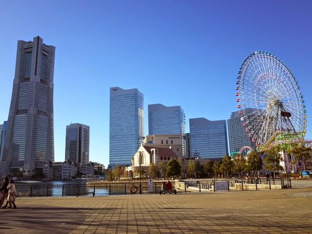 横浜ランドマークタワー側のビル群