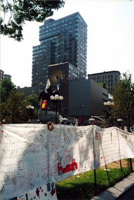 Memorial in New York City after the September 11 2001 terrorist attacks