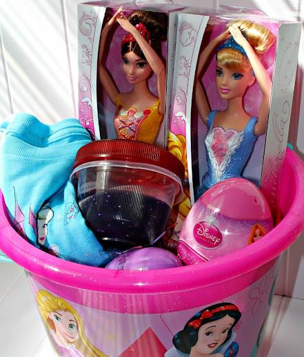 Disney Princess Easter basket and fillers with Disney Princess Glittery Homemade Silly Putty #DisneyEaster