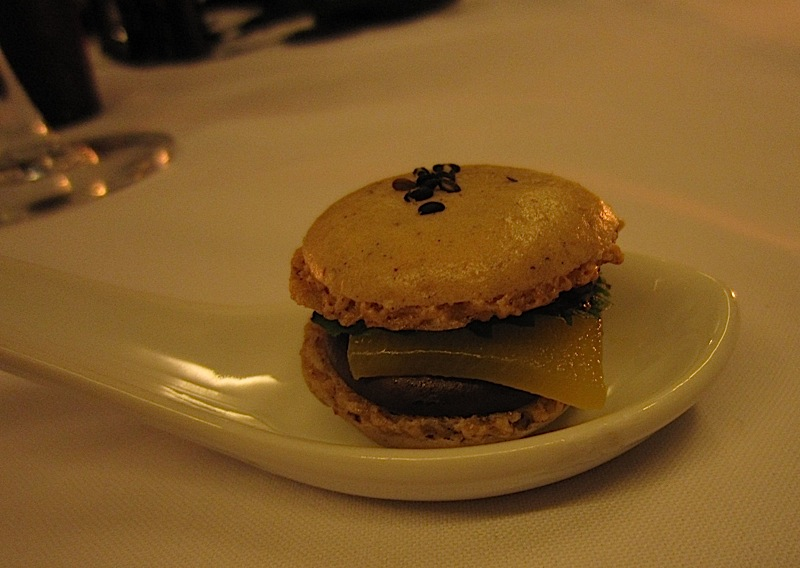 The Goose Station's French macaroon 'cheeseburger'
