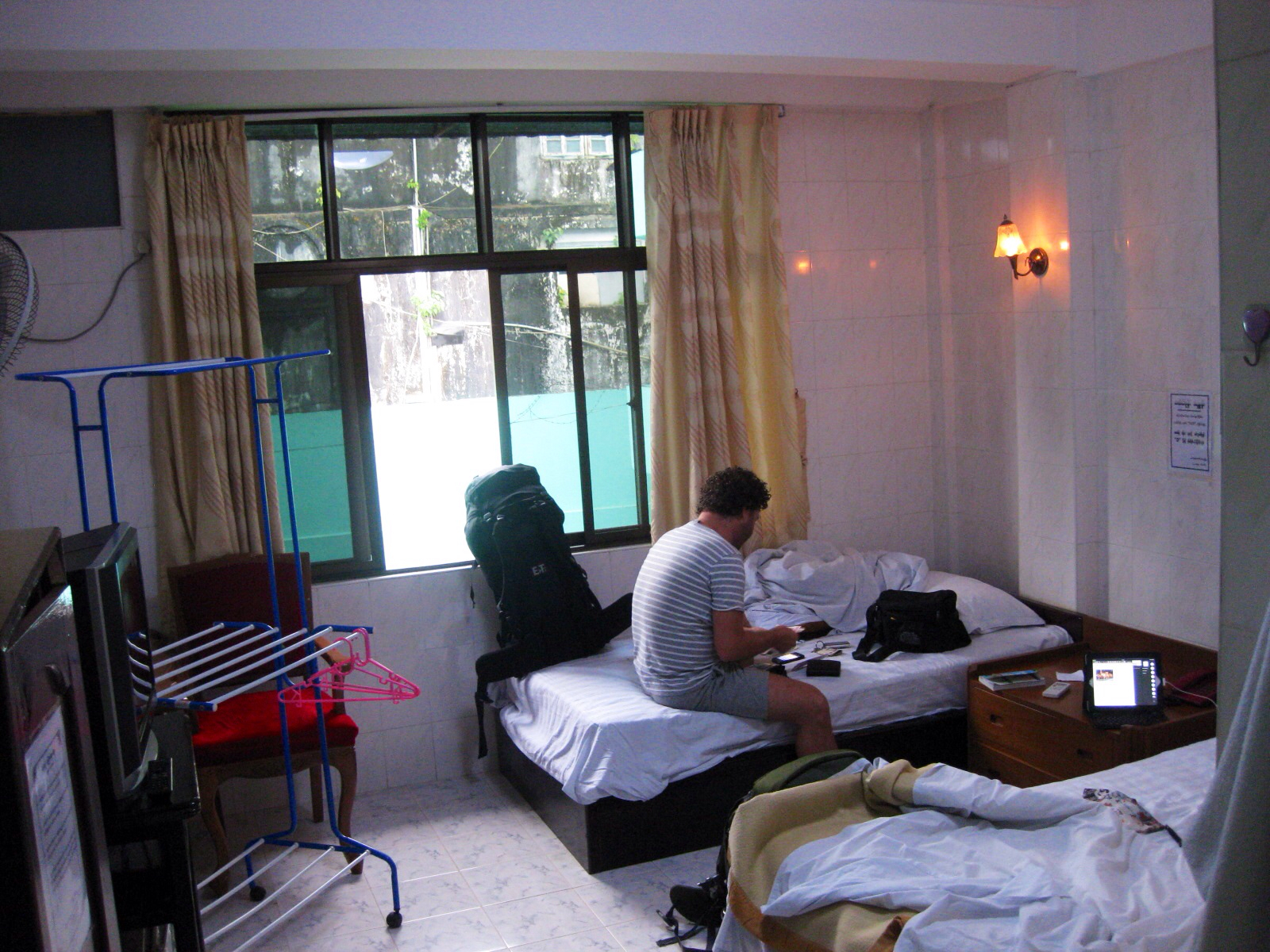 Not Really Charming But Spotless And The Room Is Very Well Equipped A Drying Rack Wow I Love That The First Ive Seen In Myanmar