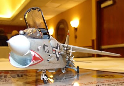Frontal view, Vought F-8 Crusader model