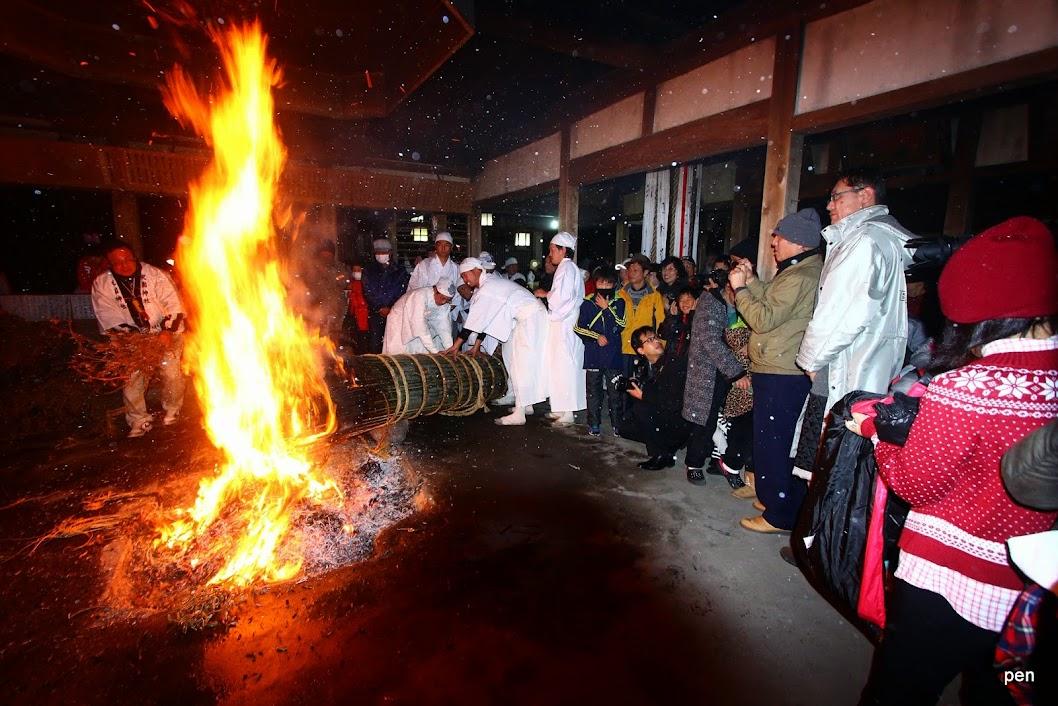 京都府精華町 祝園神社「居籠り祭り」二日目大松明 - 愛しきものたち