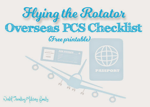 Flying the Rotator - Overseas PCS Checklist