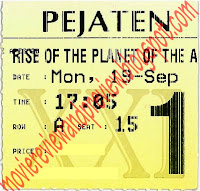 Rise of The Planet of THe Apes Ticket