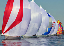 J/80 one-design sailing in Texas
