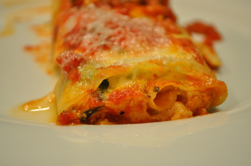cannelloni with chard