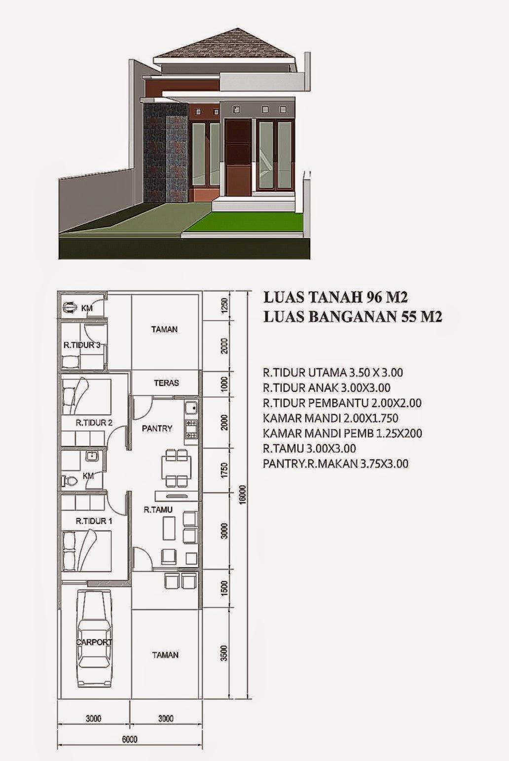 denah rumah minimalis sederhana gallery taman minimalis