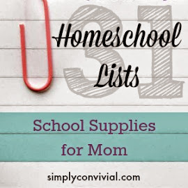 Here are the supplies I use daily to keep our homeschool days running (somewhat, sometimes) smoothly
