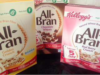All bran cereal packets