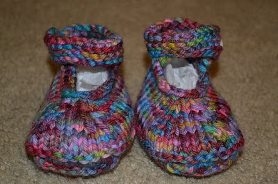 Mary Jane booties   6-9 months
