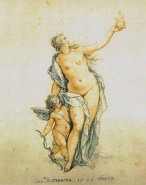 Hans Rottenhammer - Venus und Amor. 1596