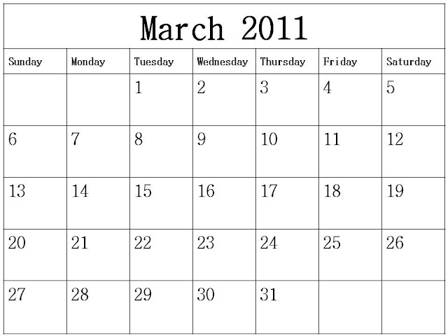 free printable blank calendars 2011. Free Homemade Calendar 2011