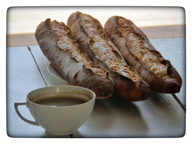 Baguettes and coffee, paris. pic:Kerstin Rodgers