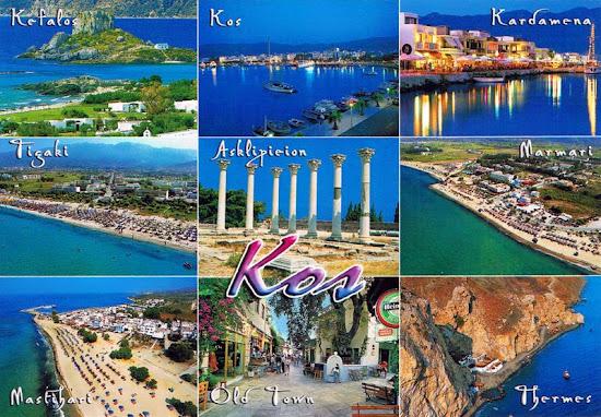 grecja wyspa kos pocztówka z atrakcjami