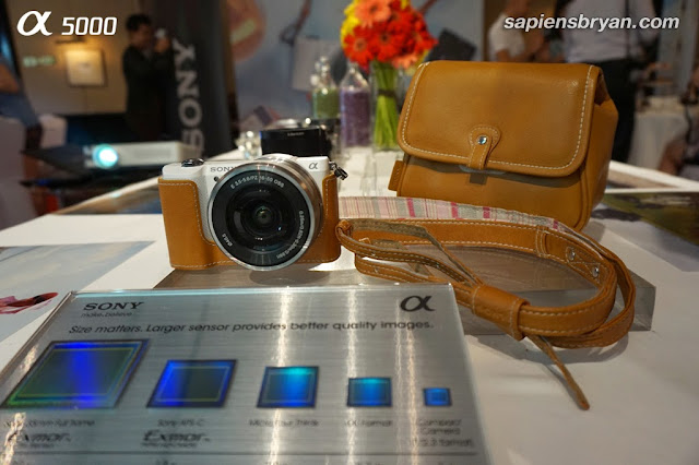 Sony Alpha 5000 has a large 20.1MP Exmor APS-C HD CMOS sensor