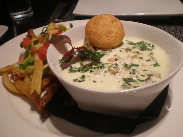 Lobster poutine and local's seafood chowder