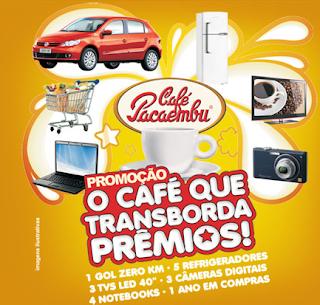 Promoção café que transborda prêmios- Café Pacaembu
