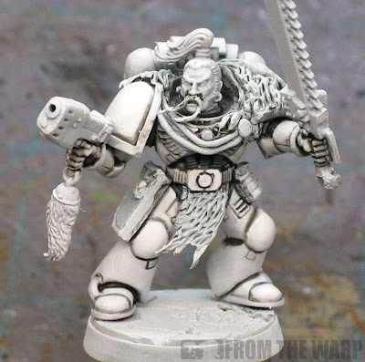 white armour painting cleaned up