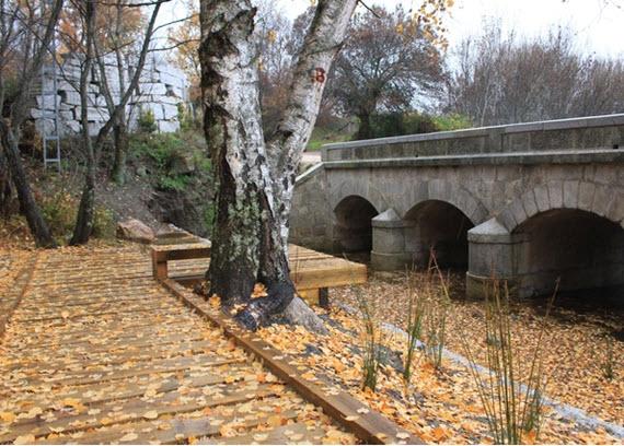 Restauración del Puente de Piedra o de la Mina, en Bustarviejo