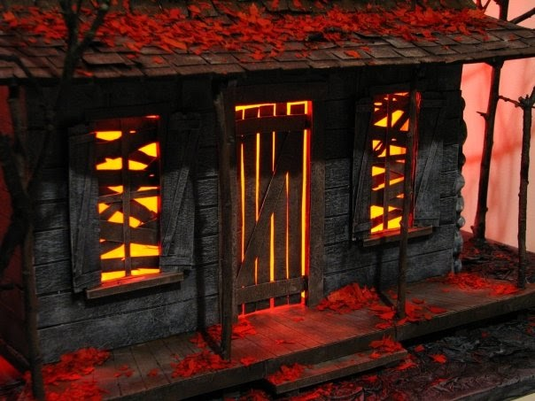 lance cardinal creations  evil dead cabin model