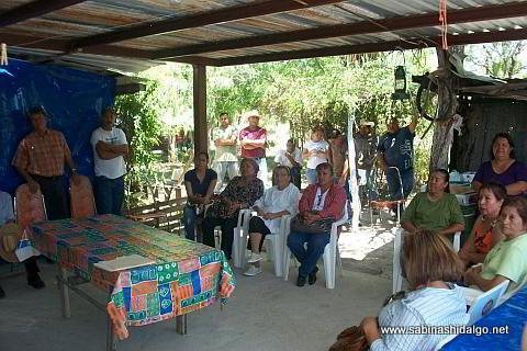 Vecinos de la comunidad del Ejido La Piedra