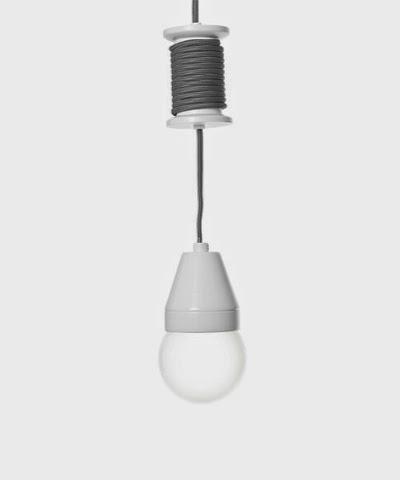 Leitmotiv ceramic spool pendant lamp £26.99