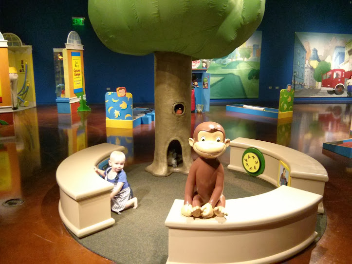 Curious George at the Fort Worth Museum of Science and History