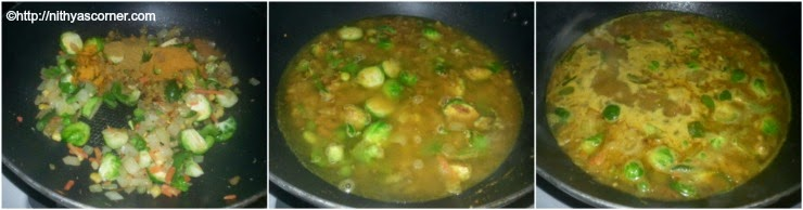South indian mixed veg kurma