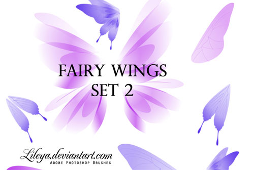 fairy wings photoshop brushes
