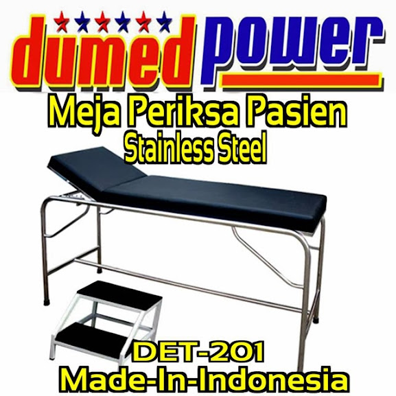 Meja-Periksa-Pasien-Stainless-Steel-Examination-Table-DET-201-DumeDPoweR