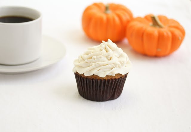 photo of one Pumpkin Spice Latte Cupcake