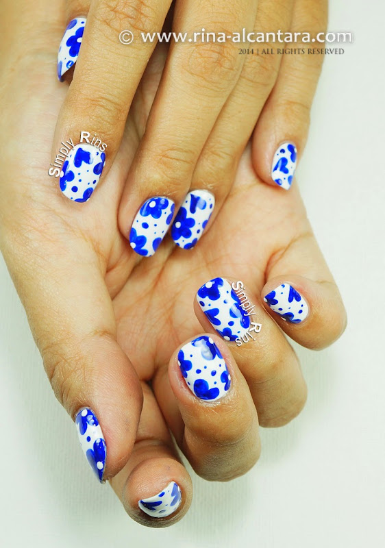 Looks Like Porcelain Nail Art Tutorial by Rina Alcantara