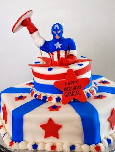 Captain America Birthday Cakes