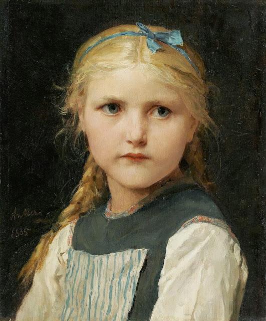 Albert Anker - Mädchenbildnis