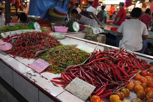 spicy peppers at Bazaar Baru Chow Kit in Kuala Lumpur, Malaysia