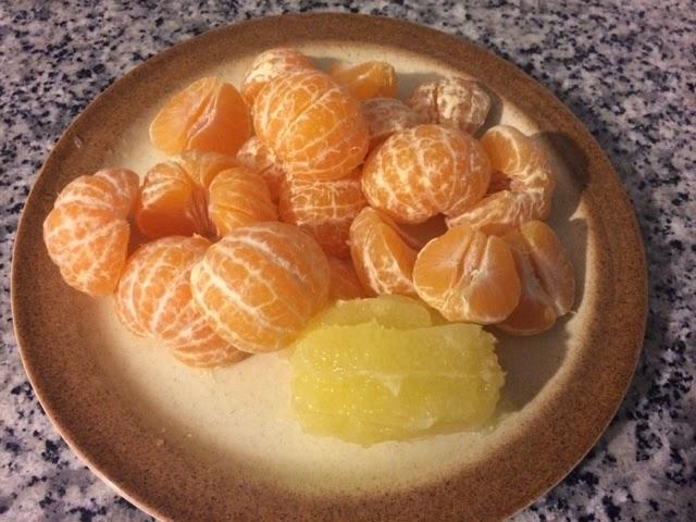 Zumo de mandarinas sin azúcar