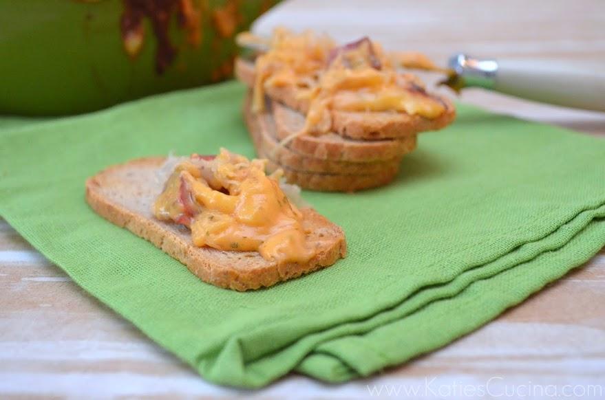 Baked Reuben Dip from KatiesCucina.com @KatiesCucina #Irish #Appetizer #ReubenDip #Recipe