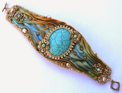 Embroidered Cuff by Red Tulip Design