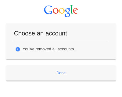 Remove all accounts on new Google login page