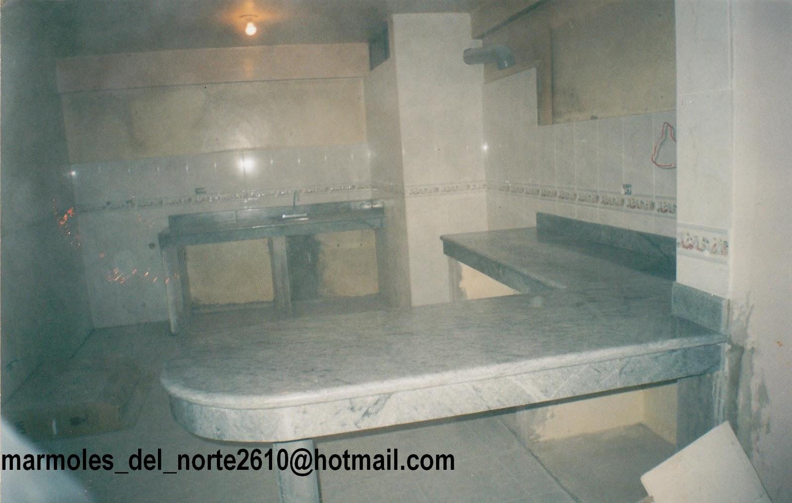 Marmoles del norte trabajos en marmol nacional e for Mesones para cocina