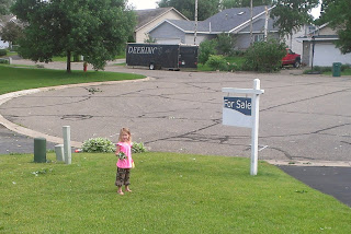 Our little helper (notice the neighbor's truck)