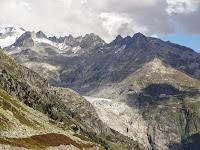 Glacier du Rhône et belvédère depuis le Grimselpass