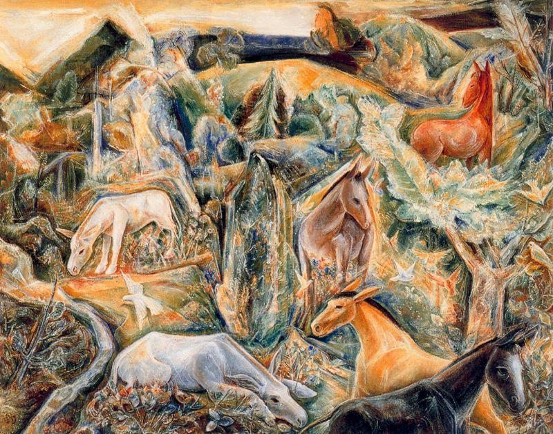 Albert Bloch - The Garden of Asses (II)