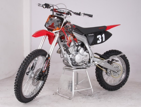 "250cc CF Xmoto Dirt Bike 21"" front  19"" rear Large Wheel"