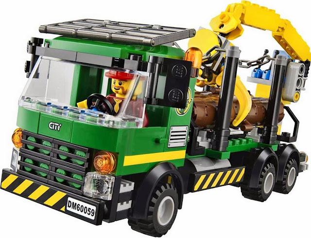 Cảm giác vui vẻ khi hoàn thành công việc của bộ xếp hình Lego 60059 Logging Truck