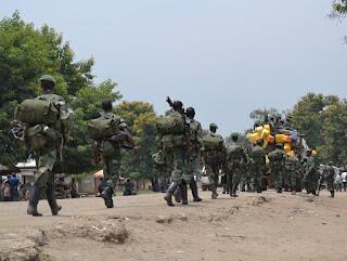 Des soldats des FARDC se retirent des forces spéciales entre la RDC et la Rwanda pour traquer les FDLR à Rutshuru au Nord-Kivu/ Photo Radio Okapi.