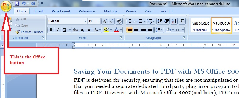 2007 ms word pdf for